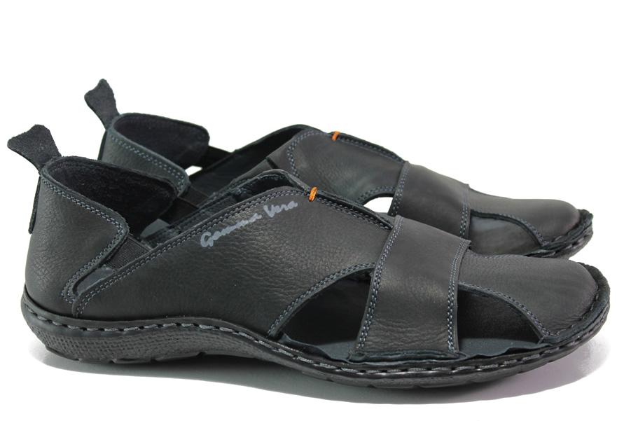 d3538002d6a Мъжки сандали - естествена кожа - черни - EO-14188
