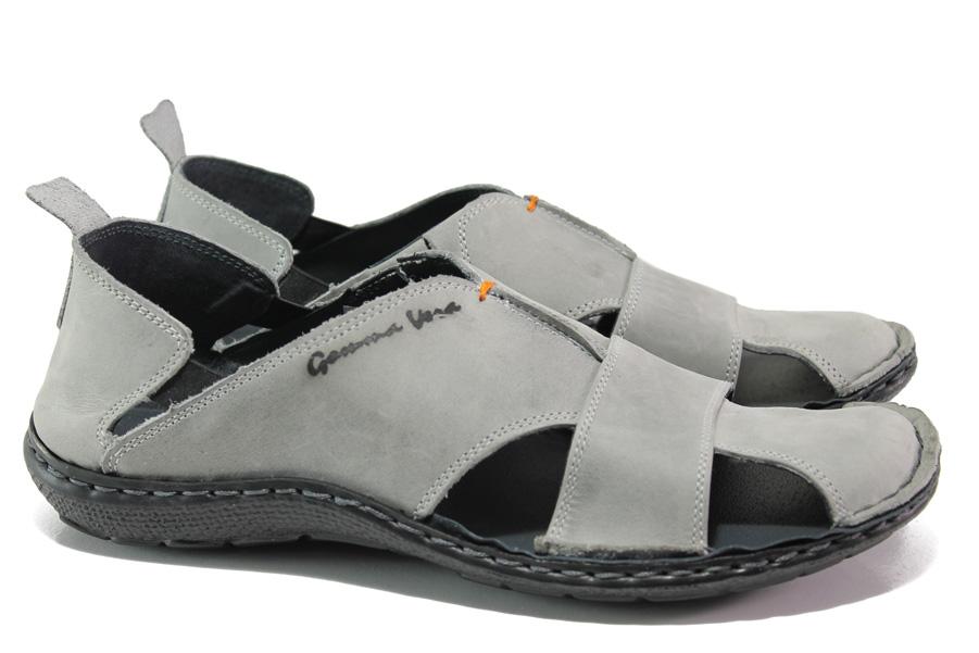 3da7a6a971c Мъжки сандали - естествена кожа - сиви - EO-14189